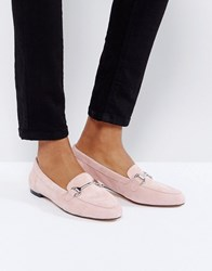 Office Blush Suede Loafers Pink