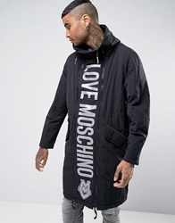 Love Moschino Padded Coat With Reversible Front Panel Black