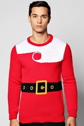 Boohoo Santa Claus Christmas Jumper Red