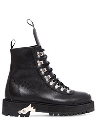 Off White 40Mm Hiking Leather Boots Black