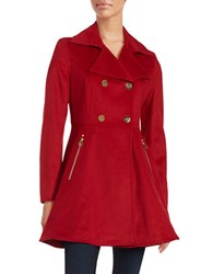 Laundry By Shelli Segal Flared Wool Blend Coat