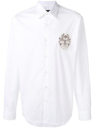 Roberto Cavalli Logo Patch Shirt White