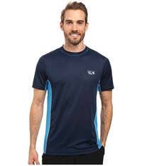 Mountain Hardwear Wicked Lite S S Tee Navy Men's Short Sleeve Pullover Blue