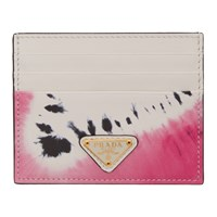 Prada Ssense Exclusive White Tie Dye Card Holder