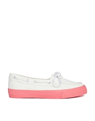 Asos Drive Home Boat Shoes Whitepink