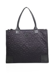 Tory Burch Ella Quilted Nylon Tote Black