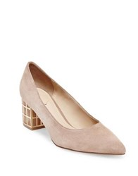 Brian Atwood Karina Microsuede Point Toe Pumps Blush