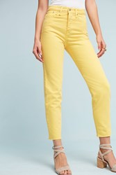 Anthropologie Levi's Wedgie Icon High Rise Jeans Dark Yellow