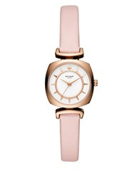 Kate Spade Barrow Square Stainless Steel And Leather Strap Watch