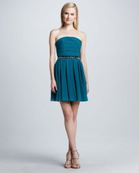 Erin Fetherston Strapless Fit And Flare Dress Harbor Blu