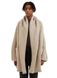 Lauren Manoogian Oversized Knitted Capote Coat Beige