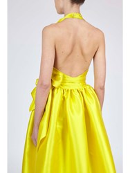 Alexis Mabille Evening Cache Coeur Dress Yellow