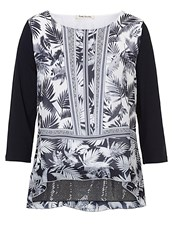 Betty Barclay Print And Sequin Tunic Top White