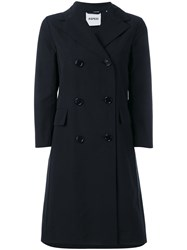 Aspesi Double Breasted Coat Women Cotton Polyester M Black