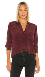 Rails Rebel Silk Blouse In Red. Red Python