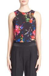 Milly 'Jewel' Floral Print Shell Multi