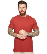 Rvca Label Vintage Wash Tee Rosewood Men's T Shirt Red