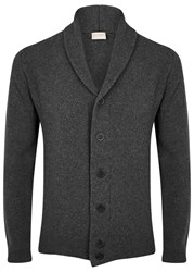 John Smedley Grey Wool And Cashmere Blend Cardigan Charcoal