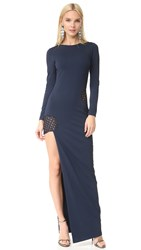 Haney Gia Long Sleeve Dress Navy