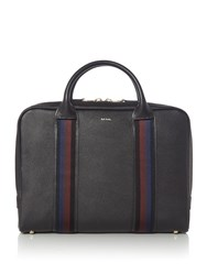 Paul Smith Ps By Webbing Leather Portfolio Bag Black