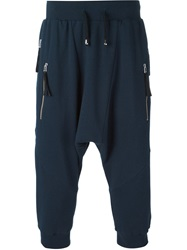 Unconditional Drop Crotch Track Shorts Blue