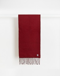 French Connection Reversible Scarf Red