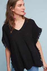 Anthropologie Mirella V Neck Poncho Black