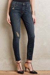 Anthropologie Mother Looker Ankle Fray Jeans Jaded And Torn 29 Pants