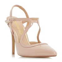 Head Over Heels Caira Assymetric Strappy Pointed Courts Beige