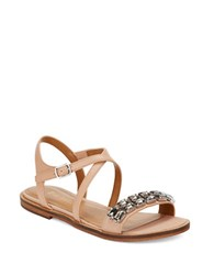 Enzo Angiolini Jewelana Slide Sandals Natural