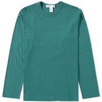 Comme Des Garcons Shirt Long Sleeve Basic Tee Green