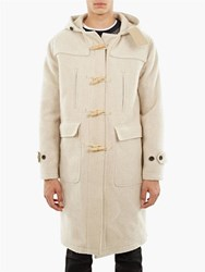 Our Legacy Ivory Extended Peeled Wool Duffel Coat White