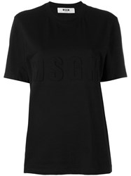 Msgm Embossed Logo T Shirt Women Cotton M Black