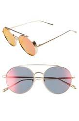 Bonnie Clyde Olympic 53Mm Polarized Aviator Sunglasses Strange Red
