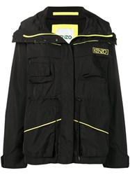 Kenzo Logo Windbreaker Jacket Black
