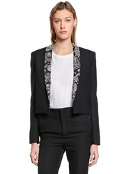Saint Laurent Embellished Wool And Mohair Cloth Jacket