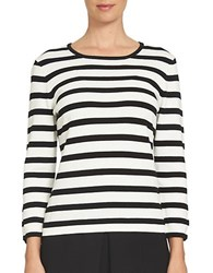 Cece Striped Bow Sleeve Pullover New Ivory
