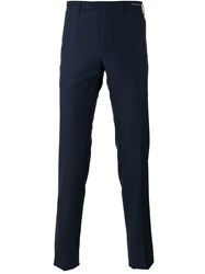 Pt01 Tonal Pattern Tailored Trousers Blue