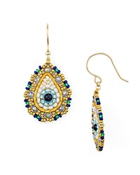 Miguel Ases Single Teardrop Drop Earrings Multi