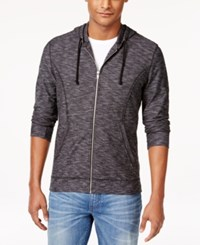 Inc International Concepts Men's Noelani Feeder Stripe Hoodie Only At Macy's Deep Black