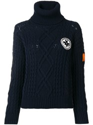 Mr And Mrs Italy Logo Roll Neck Sweater Blue