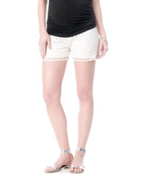 A Pea In The Pod Maternity Secret Fit Belly Lace Shorts