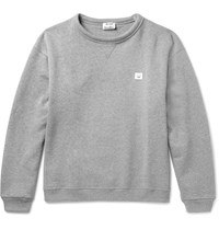 Acne Studios Fint Fleece Back Cotton Jersey Sweatshirt Gray