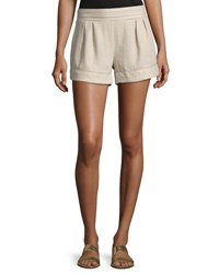 Bishop Young Smocked Waist Woven Shorts Beige