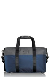 Men's Tumi 'Small Alpha' Soft Travel Satchel Blue 19 Inch Navy Anthracite