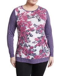 Marc New York Printed Long Sleeve Top Purple