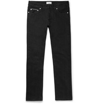 Officine Generale Slim Fit Selvedge Denim Jeans Black