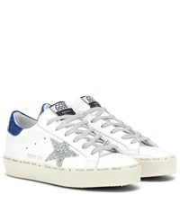 Golden Goose Hi Star Leather Sneakers White