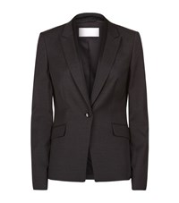 Boss Womenswear Micro Check Blazer Female Dark Grey