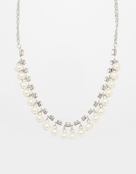 Pieces Mopana Pearl Cluster Necklace Silver